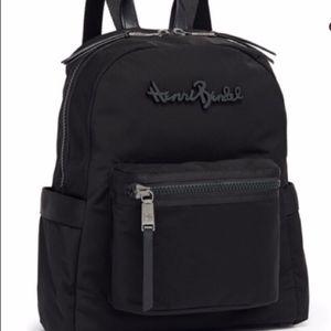 Henri Bendel Studio Nylon Black Backpack *NWT*